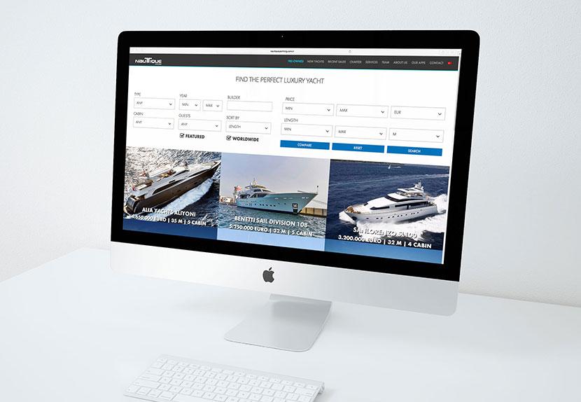 Nautique Yachting web sitesi